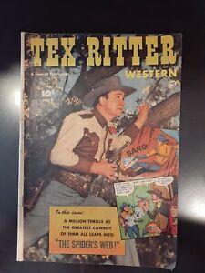 Tex Ritter Western 9 Golden Age 1952 Fawcett LOT R6 COMBINE SHIPPING