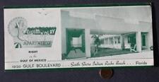 1940-50s Era Indian Rocks Beach,Florida Swim n Play Apartments brochure-VINTAGE!