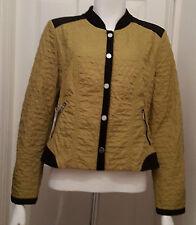 New Gerry Weber Olive Green & Black Short Jacket Size 14
