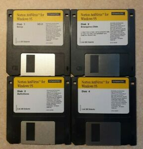 NORTON Antivirus V2.0 Windows 95 Diskettes 1 - 4