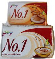 12 Godrej Soap made  Saffron and Milk Cream 68g + FREE  33g turmeric sandal soap