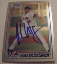 ASHER WOJCIECHOWSKI signed REDS 2010 Bowman Chrome baseball card AUTO #USA-BC20