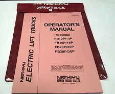 2003 NICHIYU 75 Series  ELECTRIC FORKLIFT Factory Operators Manual