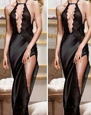 Women's Deep V Sexy Lingerie Underwear Sleepwear Sleep dress Robes Nightgown