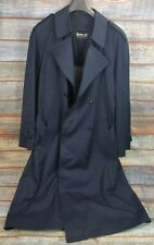 Mens Lord International Raincoat TrenchCoat Dark Blue Size 52 Buisiness Man Bnwo