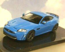 GREAT IXO 1/43 DIECAST DEALER MODEL 2012 JAGUAR XKRS XKR-S IN FRENCH RACING BLUE