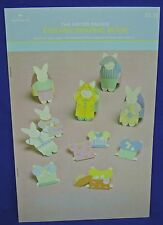 Hallmark The Easter Parade Egg Decorating Book Punch Out Bunnies and Clothes New