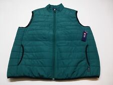 Chaps Mens Size XL Bright Ivy Green & Black Vest Jacket New
