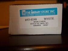 Box of 1000 Library Book Return Cards New in Box From the Library Store