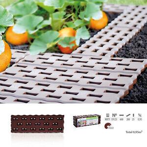 Beetplatten BRAUN 8 Stk: 0,95 m²/4,80 m Gehwegplatten Rasenplatten Gartenplatten
