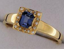 Bague Or Jaune 18 Carats Saphir et Diamants - SANS PRIX DE RESERVE -