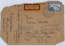 GERMAN US 1928 FIRST FLIGHT OF THE ZEPPELIN LZ27 SIEGER 21.g VALUE 750 EUROS TO