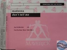 MADONNA DON'T TELL ME PROMO CD