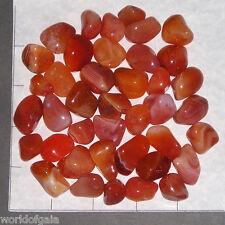 CARNELIAN Banded & Plain Botswana Agate sm-med tumbled 1/2 lb bulk stones