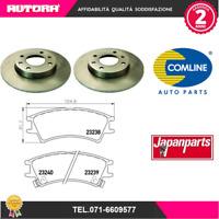 KIT54 2 Disco freno+kit pastiglie freno Hyundai Atos (MARCA-COMLINE,JAPANPARTS)