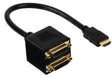 Cavo HDMI ad alta velocità con Ethernet A 2x DVI-D 24+1Pin 0.20 M Placcato Oro Donna