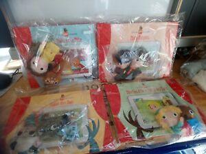Lot de 4 livres contes avec peluches marionnettes Altaya neufs sous blisters