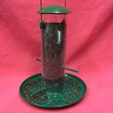 Plastic Wild Garden Bird Seed Feeder With Tray 4 Multi Port Perches FREE NIGER