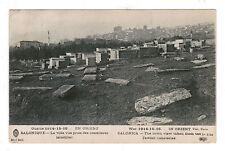 JUDAICA  JEWISH CEMETERY POSTCARD SALONICA SALONIQUE GREECE  1914