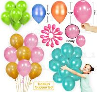 "5"",10"",12"" Pearl LATEX BALLOONS, Helium Party, Birthday, Wedding, Christening Ba"