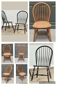 Refurbish Windsor back Dining Chair Painted in Farrow & Ball Railings Free PP