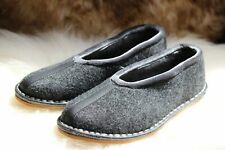 WOMENS MENS UNISEX REAL FELT VERY COMFORTABLE SLIPPERS ALL SIZES