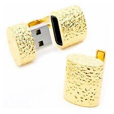Ravi Ratan Hammered Gold 4GB USB Flash Drive Cufflinks
