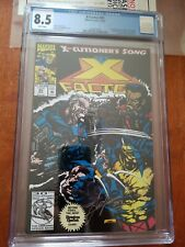 X Factor #85 X-cutioner's Song signed Jae Lee CGC 8.5 Cable X-men, Stryfe, Boom
