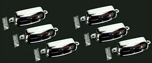 """(6 pcs.) 3-5/8"""" CHROME Cabinet or Drawer PULL HANDLE (Polished Chrome)"""
