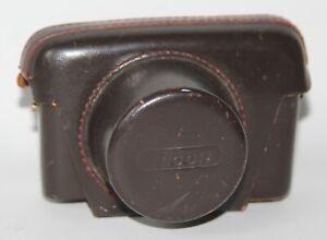 Ricoh Auto 126 - Genuine Vintage Brown Leather Camera Case - vgc