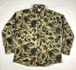 Vtg Walls Mens Duck Camo Button Down Shirt XL Regular Camouflage C8