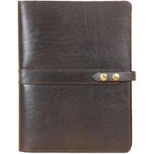 Leather Business Portfolio Notebook Folio Writing Pad Black No. 18 USA Made