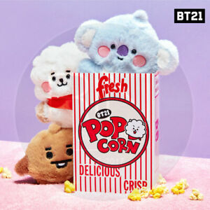 BTS BT21 Official Authentic Goods BABY Flat Fur Series Standing Doll + Track