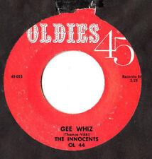 """Los Inocentes. Gee Whiz/Por Favor Sr. Sun. EE. UU. re-ISS 7"""".EX+"""
