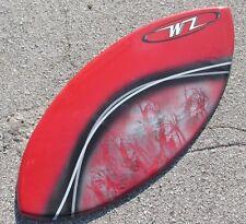 "NEW Wave Zone Surge 45"" Skimboard - Red - Fiberglass & Foam - Intermediate"