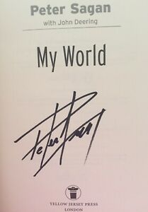 Peter Sagan SIGNED Book 'My World' 1/1 HB. Cycling Grand Tour De France Olympics
