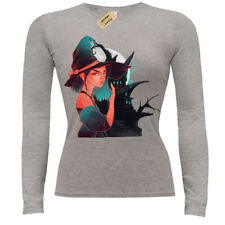 Witch Girl T-Shirt haunted house halloween ladies long sleeve