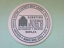 Beer Coaster: DOWNTOWN JOE'S Restaurant & Brewery Ales Lagers ~ Napa, CALIFORNIA