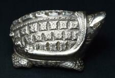 More details for antique cambodian silver betel nut box c1920s turtle shape