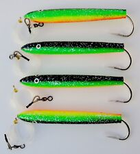 "6""Rigged Cedar Plugs Zucchini 4 Pieces Tuna Mahi Trolling Saltwater Fish Lures"