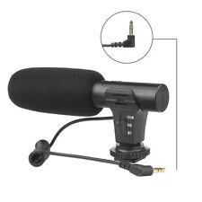 External Stereo Condenser Microphone for Nikon Canon DSLR Camera Photography
