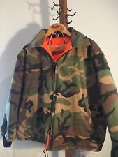 Mens Vintage Reversible Quilted Hunting Coat L/XL GUC