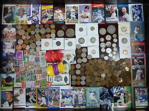 Junk Drawer Lot #5: Morgan Dollar, Antique Silver Coins Sports Cards Estate Sale