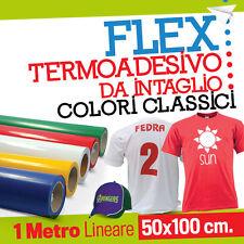 TERMOADESIVO TRANSFER FLEX COLORI CLASSICI stampa t-shirt plotter taglio tessuti