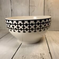 Pottery Barn Black And White Soup Cereal Bowl  5 5/8Made in Brazil Geometric