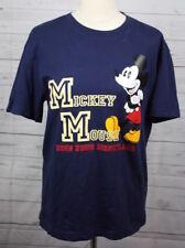 Mickey Mouse Disney Hong Kong Navy Blue Short Sleeve 100% Cotton T Shirt Large