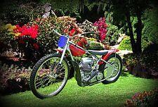1986 jawa speedway Bike Motorcycle A4 Retro Metal Sign Aluminium