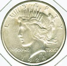 1924 S Peace Silver Dollar - AU/BU