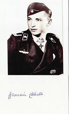 German Knights Cross WWII Panzer Platoon Leader Hermann Eckardt SIGNED CARD