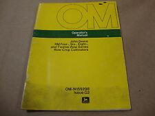 John Deere Operators Manual For Rm 4 6 8 12 Row Series Row Crop Culitivators